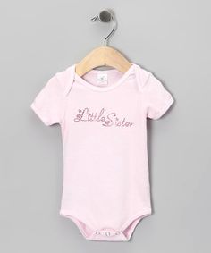 Loving this Truffles Ruffles Pink Stud 'Little Sister' Bodysuit - Infant on #zulily! #zulilyfinds