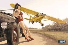 Pin-Up Wings - art by Romain Hugault Pinup Art, Military Pins, Military Art, Nose Art, Modern History, Aviation Art, Pin Up Style, Women In History, Ancient History