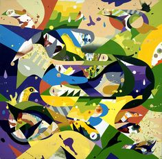 Tomokazu Matsuyama's work -- mostly acrylics on canvas or paper -- has a sense of intrigue, mystery and secrecy that draws the viewer in and demands a further look. There is also a feel of lightness, floating and movement that seems to suggest fleeting glimpses of something impermanent. At the same time, his art carries a strong implication of tradition and of enduring order.