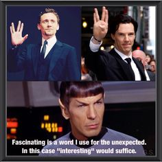 Hiddles and Cumbers go Trekkie