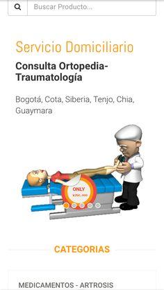 Consulta médica a domicilio en ortopedia y traumatologia para esos dolores articulares llegando tratamiento de alta tecnología a su casa. Llamemos al 6923370.