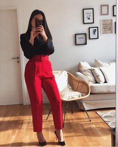 20 Best Modern Work Outfits Ideas For Women 2020 - Discover ideas about Business Outfit Damen ~ Fashion & Design Trajes Business Casual, Business Casual Outfits, Professional Outfits, Office Outfits, Mode Outfits, Outfits For Teens, Stylish Outfits, Fashion Outfits, Red Outfits For Women