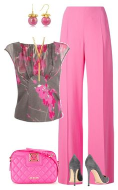 """Untitled #1658"" by marisol-menahem ❤ liked on Polyvore featuring Emanuel Ungaro, Debenhams, Gianvito Rossi, Love Moschino, Naoto and BERRICLE"