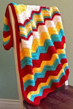 Chevron Baby Blanket - like the color scheme & stripe pattern