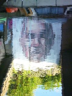 Reflected graffiti Regent's Canal Bow