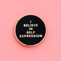 exclusive sxsw collab: i believe in self expression pin: