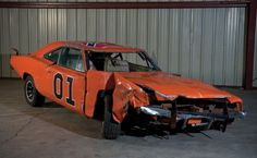 """There must have been a lot of these laying around the back lot of """"The Dukes of Hazard"""" studios, would buy for Robbie! Classic Hot Rod, Classic Cars, Rat Rods, General Lee Car, Lee Movie, Dukes Of Hazard, Dodge Chrysler, Car Storage, Unique Cars"""