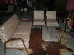 jogo de sofá rino levi anos 50 pé palito em caviúna