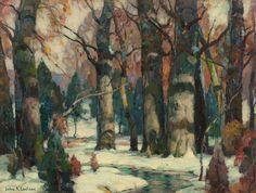 John F. Carlson. Snowy Forest.