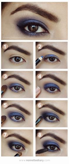 Blue Storm make-up tutorial. #bluestorm #eyeshadow #eyeliner #makeup #purple #darkpurple #makeuptutorial #tutorial #diymakeup #diy #stepbystep #stepbystepmakeup #beauty