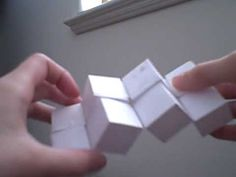 Origami Moving Cubes 2 - using Sonobe units - YouTube