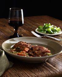 Cider Vinegar–Braised Chicken Thighs