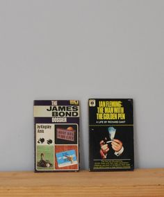 Vintage James Bond books, The James Bond Dossier by Kingsley Amis  Ian Fleming: The Man With the Golden Pen, 2 paperbacks, 1960s, biography...