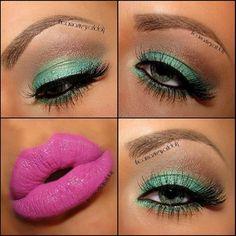 Mint Green eyeshadow..