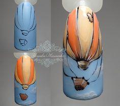 """МК""""Воздушный шар""""#alex_maximenko_nail #alex_maximenko #instaphoto #photo #nails #gel #new #flowers #design #manicure #color #fashion #tutorial #flawless #gelpolish #watercolor #цветы #мастеркласс #идеиманикюра #маникюр #мк #росписьногтей #пошагово #дизайнногтей #рисунок  #дизайн #гельлак #2017  #Львов"""
