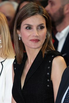 Queen Letizia of Spain attends the 'Gran Angular' and 'El Barco De Vapor' literature awards at Casa de Correos on April 19, 2016 in Madrid, Spain.
