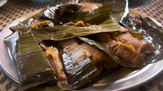 There is a large Puerto Rican community in St. Croix and they've brought a typical Puerto Rican dish with them -- homemade pasteles made with pork, green bananas and pumpkin.