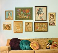 Pillows and gallery wall | At Home in Love