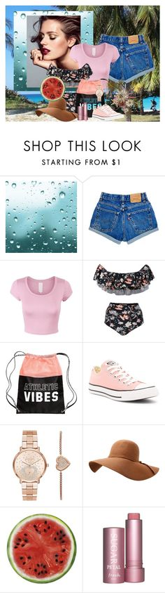 """oddisey vacation"" by betsabe13 ❤ liked on Polyvore featuring ADRIANA DEGREAS, Converse, Michael Kors and Round Towel Co."