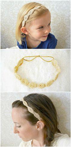 Crochet Provence Gold Fleck Headband - 101 Free Crochet Patterns - Full Instructions for Beginners | 101 Crochet