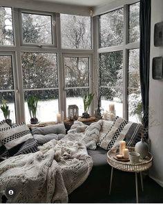 Cozy Living Rooms, Home And Living, Living Room Decor, Small Living, Apartment Living, Modern Living, Dream Home Design, Home Interior Design, Rooms Home Decor