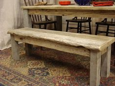 1 Handmade, Driftwood Bench (54 x 15 x 17H)    This is a very unique bench, handmade using rustic driftwood which has been salvaged off the