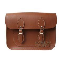 Bolsa Croisfelt Satchel Feminina, Carteiro Marrom 11'' Retro Vintage Design #classica #itbag #moda
