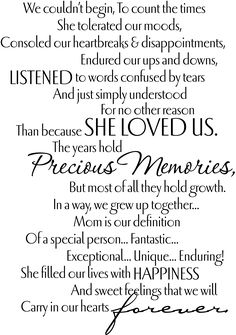 A Tribute To Mom - mi sitio Funeral Songs For Mom, Funeral Speech, Funeral Quotes, Mother Poems, Mom Poems, Mothers Day Quotes, Memorial Songs, Mom In Heaven Quotes, Happy Poems