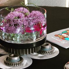 #c2mdesigns #floral #floraldesign #centerpiece #corporateevent #eventdecor #fundraiser #seaporthotel #boston #bestbuddies #gears #led #allium #dendrobiums #contemporary #stainlesssteel #corporateevent #metalfleurgy #designsthatrock #likeC2MdesignsFacebook Designer: #christinemccaffery