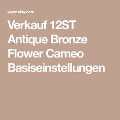 Verkauf 12ST Antique Bronze Flower Cameo Basiseinstellungen