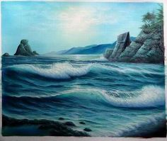 Thomas Kinkade - did not know he did an ocean scene