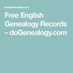 Free English Genealogy Records – doGenealogy.com