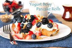 Yogurt Berry Pancake Rolls