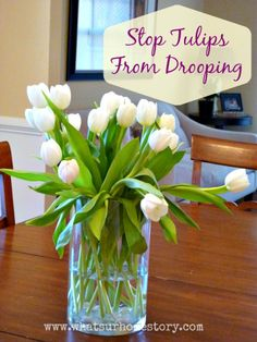 Trick to stop tulips from drooping