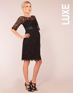 Maternity Cocktail Dress - Black Lace   Seraphine LUXE