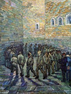 The Prison Courtyard  (1890)  Vincent Van Gogh