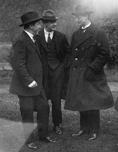 Left to right: Harry Boland, the Big Fellow, Eamon de Valera