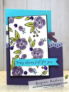 Yesterday was my sweet stampin' friend's birthday, which means that I can now share the card that I made for her.  Making a card f...