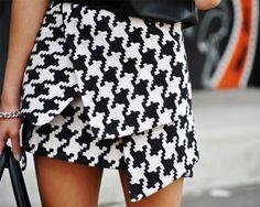 Loving Houndstooth | #skirt #style