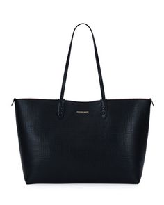 Lino+Medium+Embossed+Leather+Tote+Bag,+Black+by+Alexander+McQueen+at+Neiman+Marcus.
