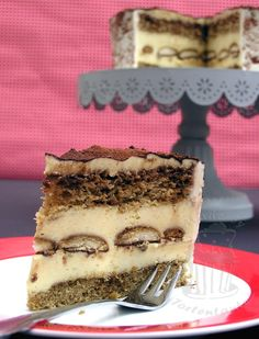 Tortenstück Tiramisu Torte