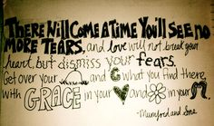 mumford and sons lyrics...on the back of a letter i wrote to a friend