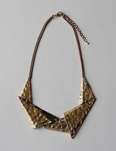 Triangular necklace