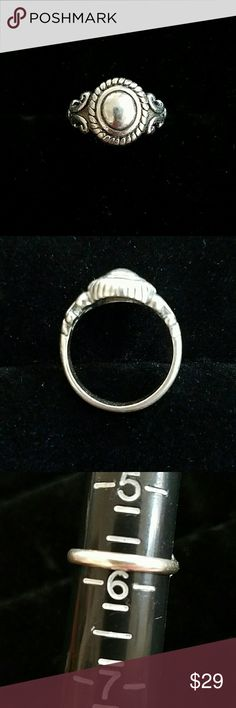 Beautiful Brighton Dome Ring Beautiful Brighton Dome Ring. Stamped 925 and With Signature Brighton Heart. Size 5 3/4. Great Condition. Everyday Classic. Jewelry Rings