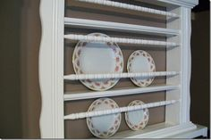 Crib railing repurpose idea