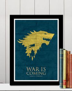 Game Of Thrones A3 Poster  War is coming by colorpanda on Etsy, $18.00