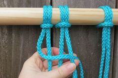 Four cords are used to create a square knot.