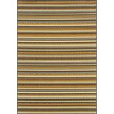 Found it at Wayfair - Bali Grey/Gold Stripe Rug...no 6 x 6 available