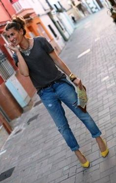 loose boyfriend Jeans