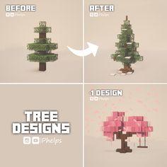 Minecraft Tree, Minecraft Structures, Minecraft Cottage, Cute Minecraft Houses, Amazing Minecraft, Minecraft Blueprints, Minecraft Crafts, Minecraft Designs, Minecraft Skins